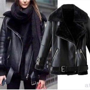 Zara biker parka jacket